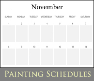 Painting schedule
